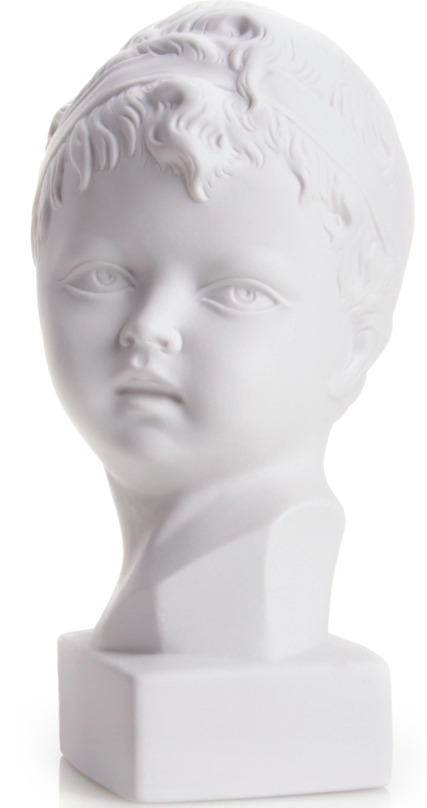 W&A Skulptur »Jungenkopf« aus Porzellan