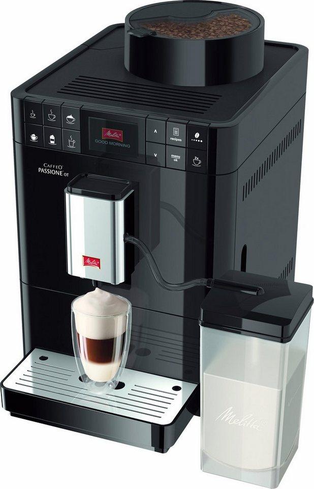 Melitta Kaffeevollautomat Caffeo® Passione® OT F53/1-102, schwarz in schwarz