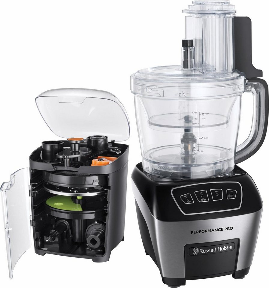 Russell Hobbs Food Processor Performance Pro 22270-56, 800 Watt in edelstahl-schwarz