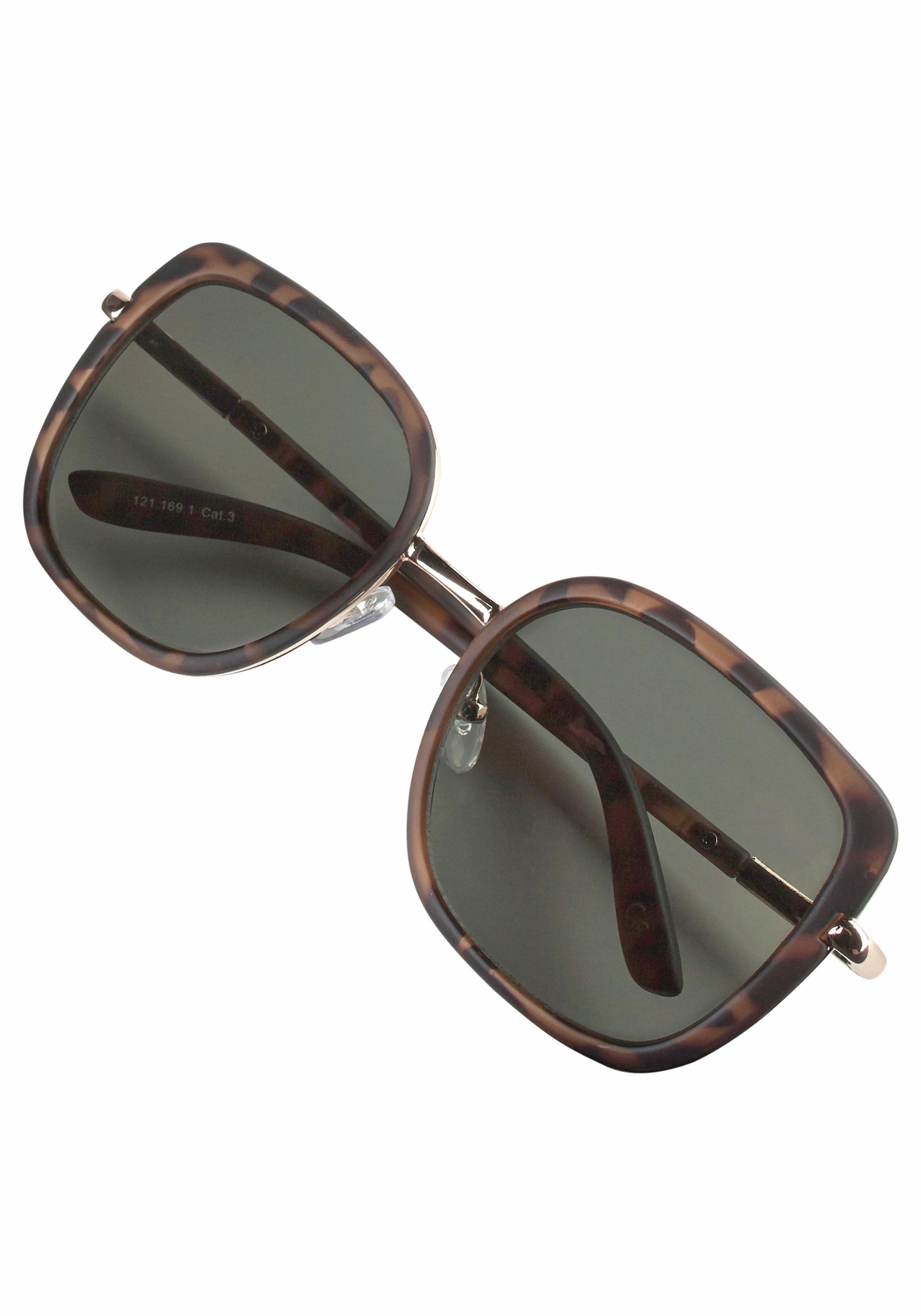 Catwalk Sonnenbrille mit Rahmen im Materialmix
