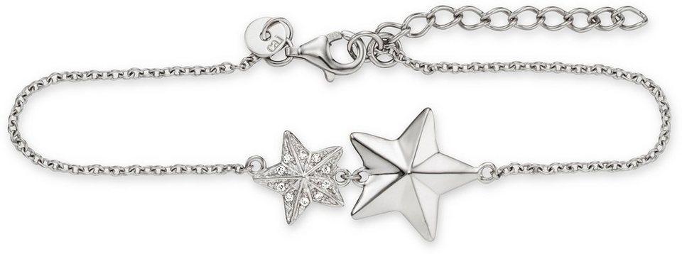 caï Women Armband mit Zirkonia, »Stern, C1537B/90/03/17+3« in Silber 925