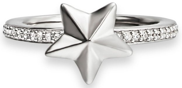 caï Women Ring mit Zirkonia, »Stern, C1540R/90/03/« in Silber 925