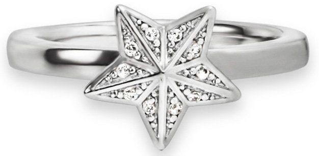 caï Women Ring mit Zirkonia, »Stern, C1537R/90/03/« in Silber 925