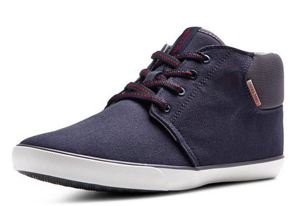 Jack & Jones Leinen- Schuhe in Navy Blazer