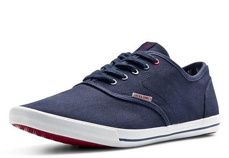 Jack & Jones Leinen- Sportschuhe in Navy Blazer