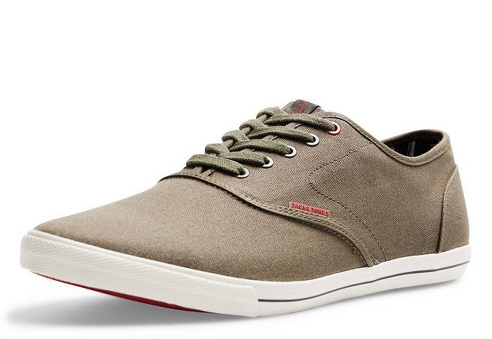 Jack & Jones Leinen- Sportschuhe in Ivy Green
