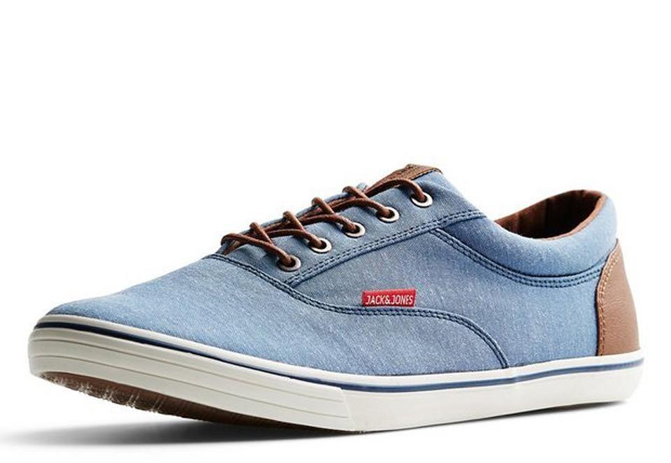 Jack & Jones Leinen- Sneaker in CHAMBRAY BLUE