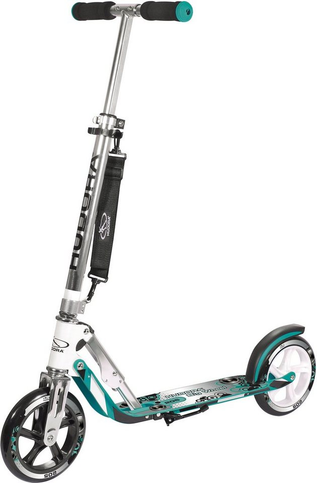 Hudora Scooter, »Big Wheel 205 türkis« in türkis-weiß