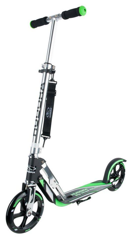 Hudora Scooter, »Big Wheel RX-Pro 205 schwarz-grün« in schwarz-grün