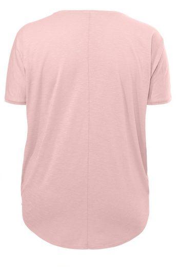 "FRAPP Raffiniertes Shirt in V-Form ""Laser Cut"" Laser Cut"