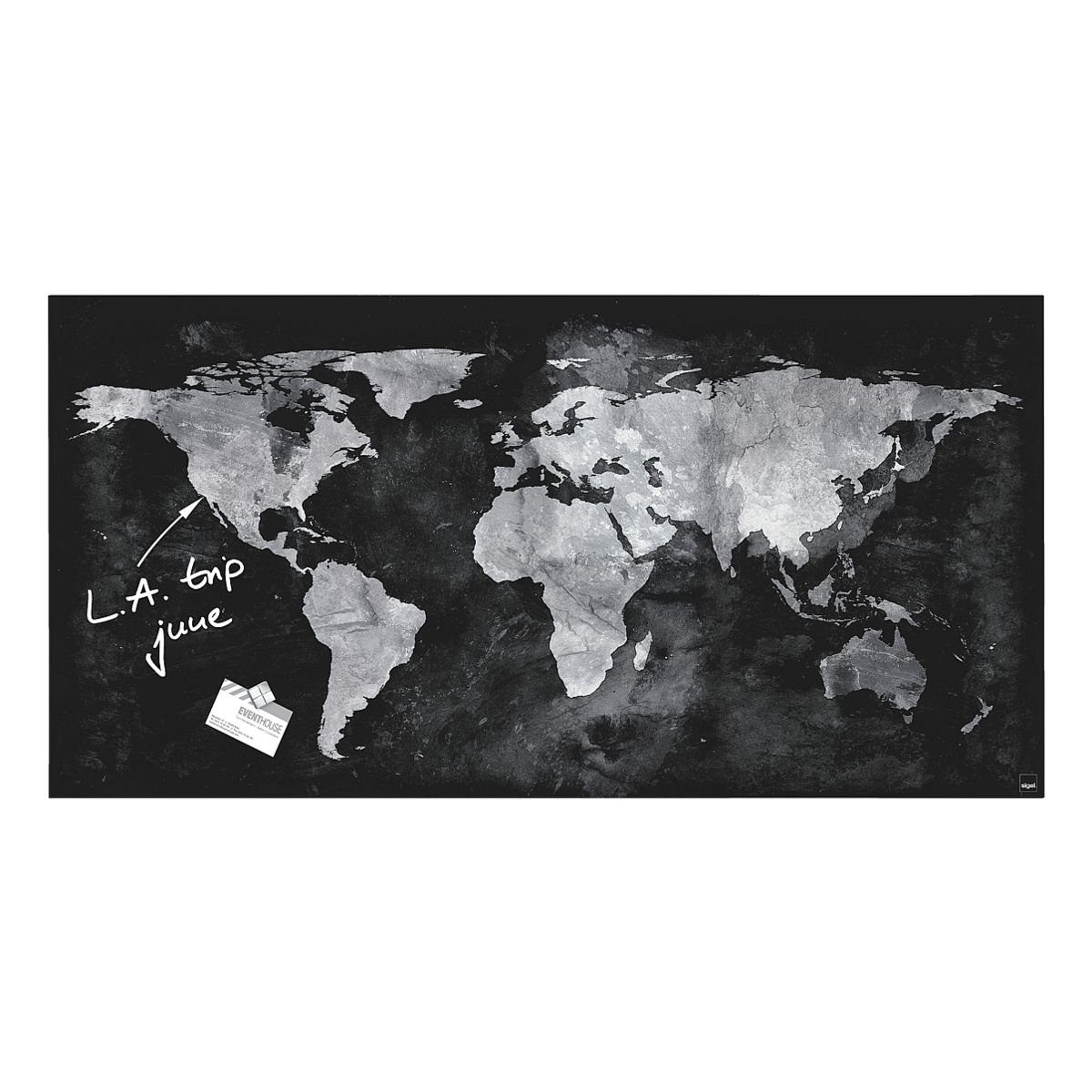 Sigel Glas-Magnettafel GL270 »artverum® World Map«