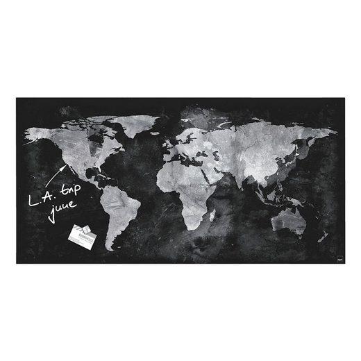 Sigel Glas-Magnettafel GL270 »Artverum World Map«