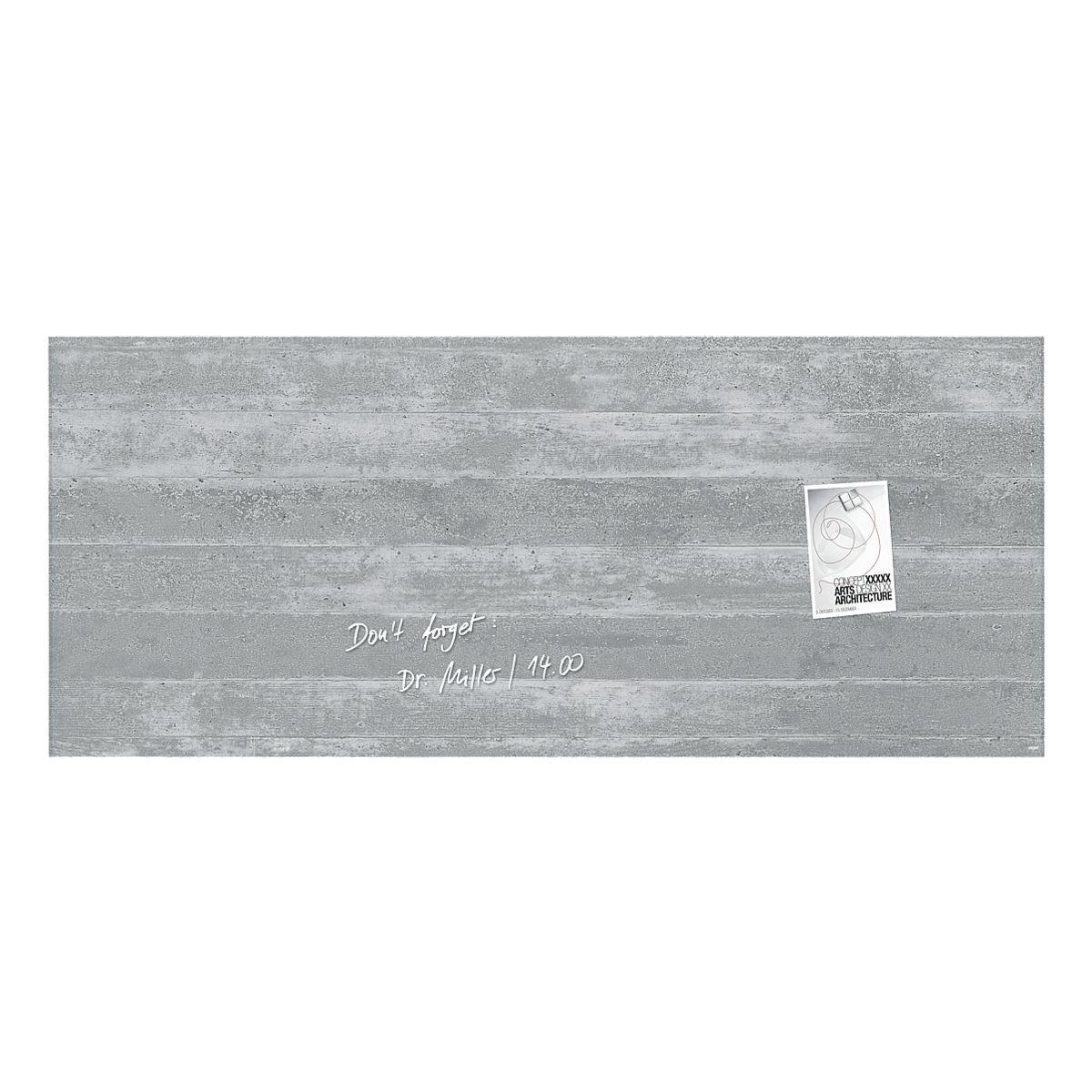 Sigel Glas-Magnettafel »artverum® Sichtbeton«