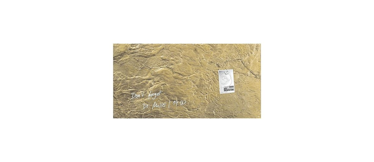 Sigel Glas-Magnettafel »artverum® Metallic-Gold«