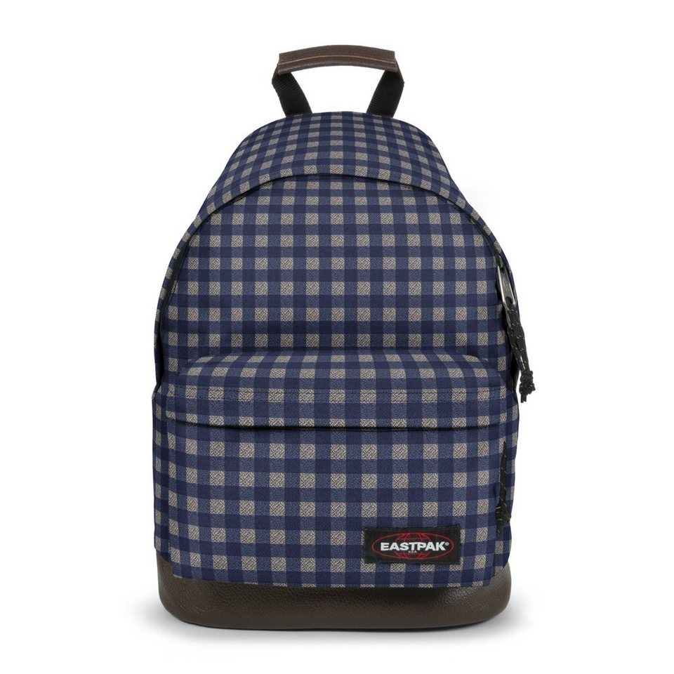 Eastpak Authentic Collection Wyoming 15 Rucksack mit Leder 40 cm in checksange blue