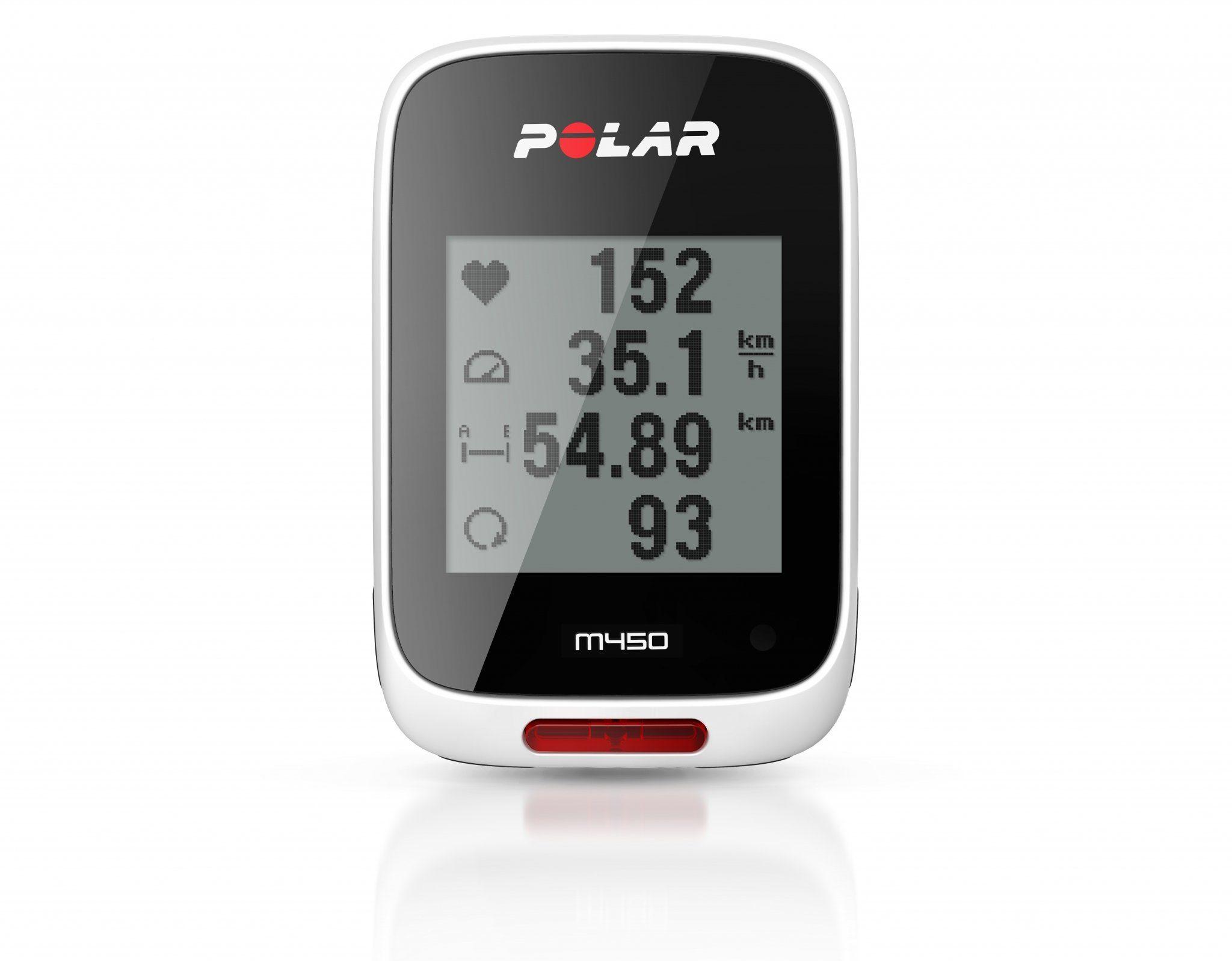 Polar Navigationsgerät »M450 GPS Fahrradcomputer schwarz/weiß«