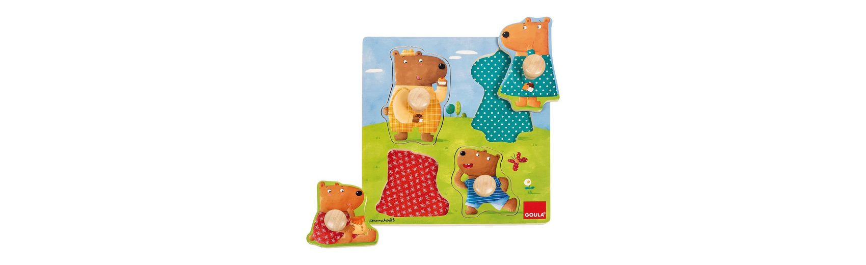 Goula Holzpuzzle Bärenfamilie 4 Teile