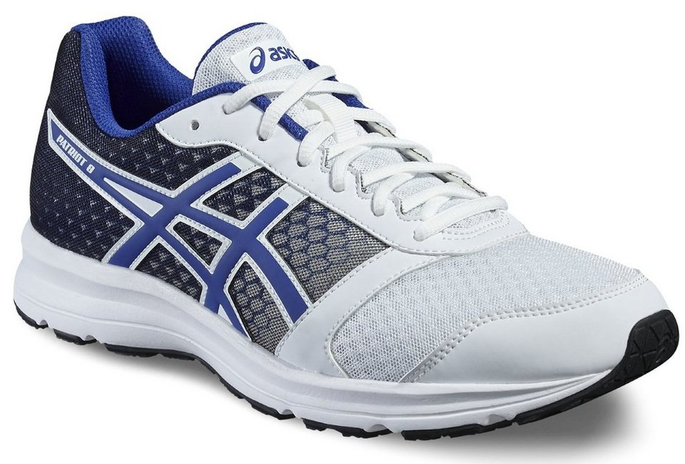 asics Runningschuh »Patriot 8 Shoe Men White/ Blue/Black« in weiß