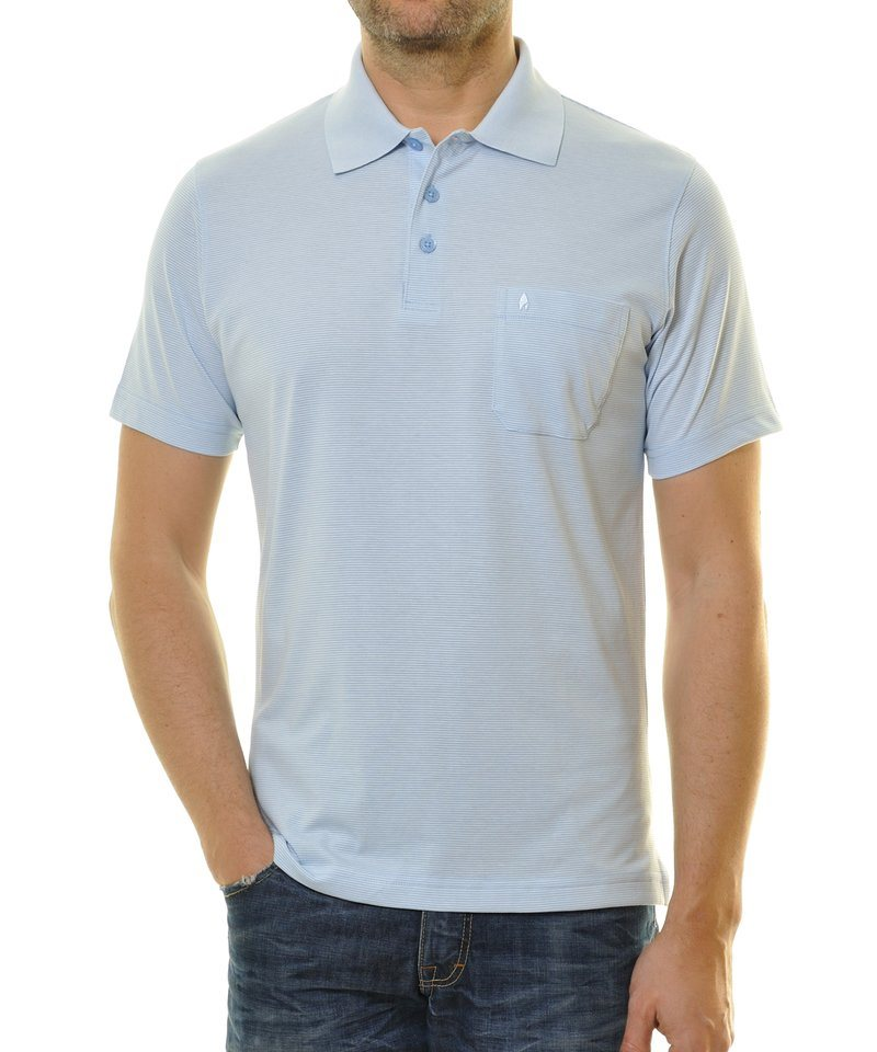 Ragman Poloshirt in hellblau
