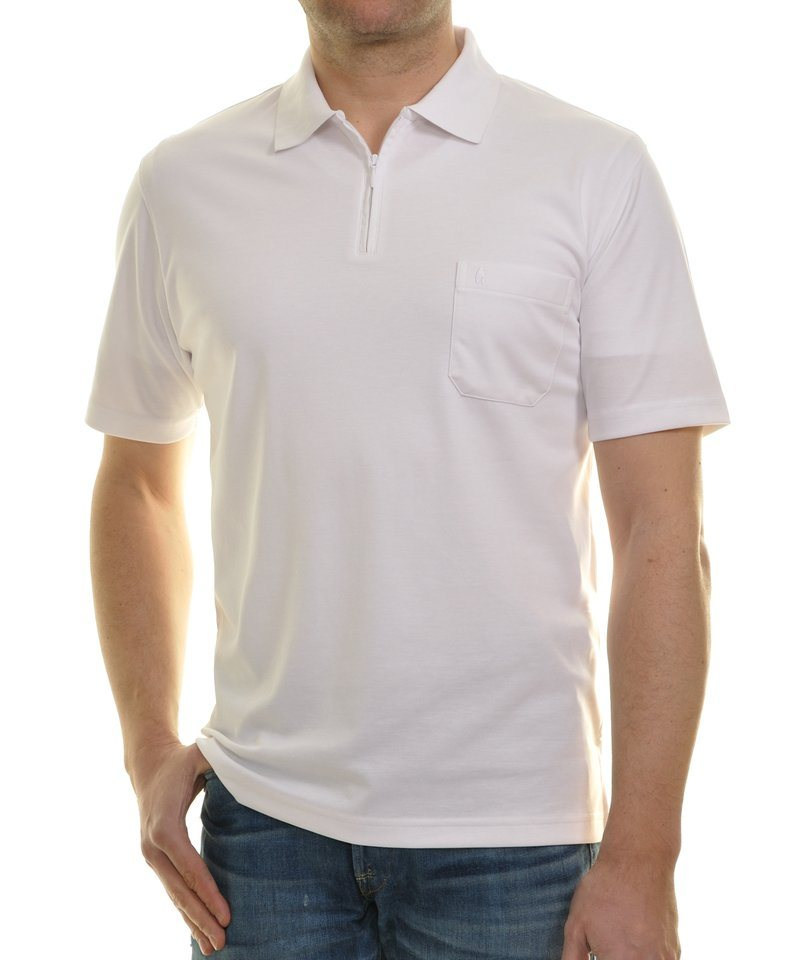 Ragman Poloshirt in weiß