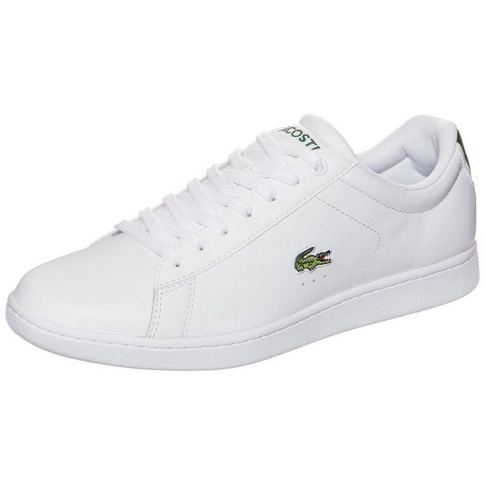 LACOSTE Carnaby Evo Sneaker Herren in weiß / grün