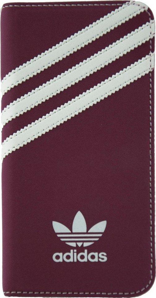 Adidas Originals Rundum-Schutz für das iPhone 6/6s »Suede Booklet« in rot
