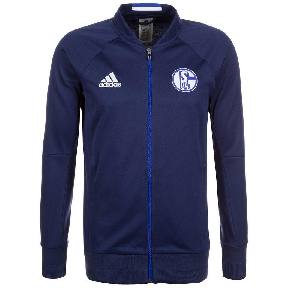 adidas Performance FC Schalke 04 Anthem Jacke Herren in dunkelblau / weiß
