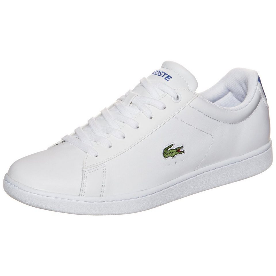 LACOSTE Carnaby Evo Sneaker Herren in weiß / blau