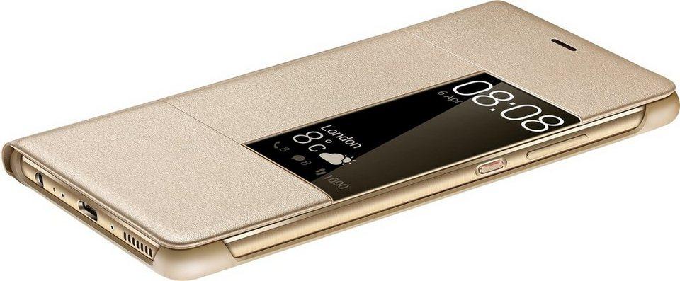 Huawei Handytasche »View Flip Cover für P9 Plus« in Gold