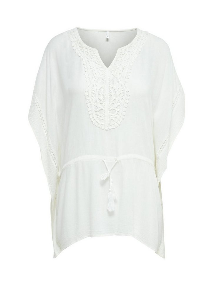 Only Detaillierter Poncho in Cloud Dancer