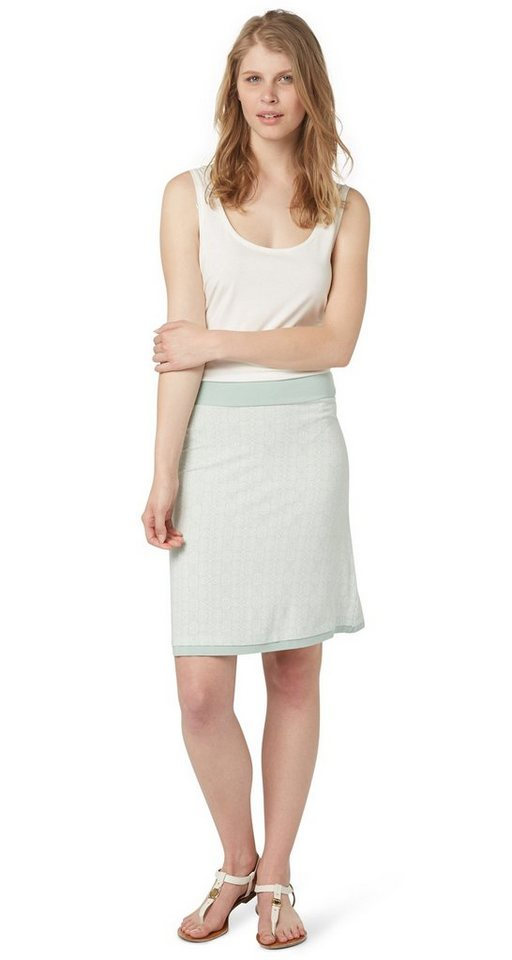 TOM TAILOR Rock »printed jersey skirt« in fresh mint green