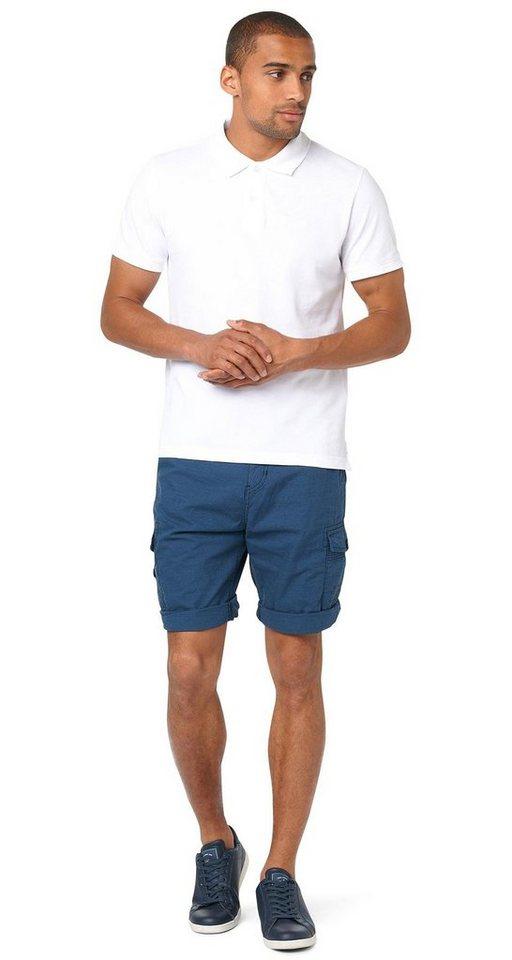 TOM TAILOR Shorts »gestreifte Cargo-Bermuda« in real navy blue