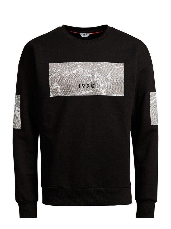 Jack & Jones Lang geschnittenes Sweatshirt in Black
