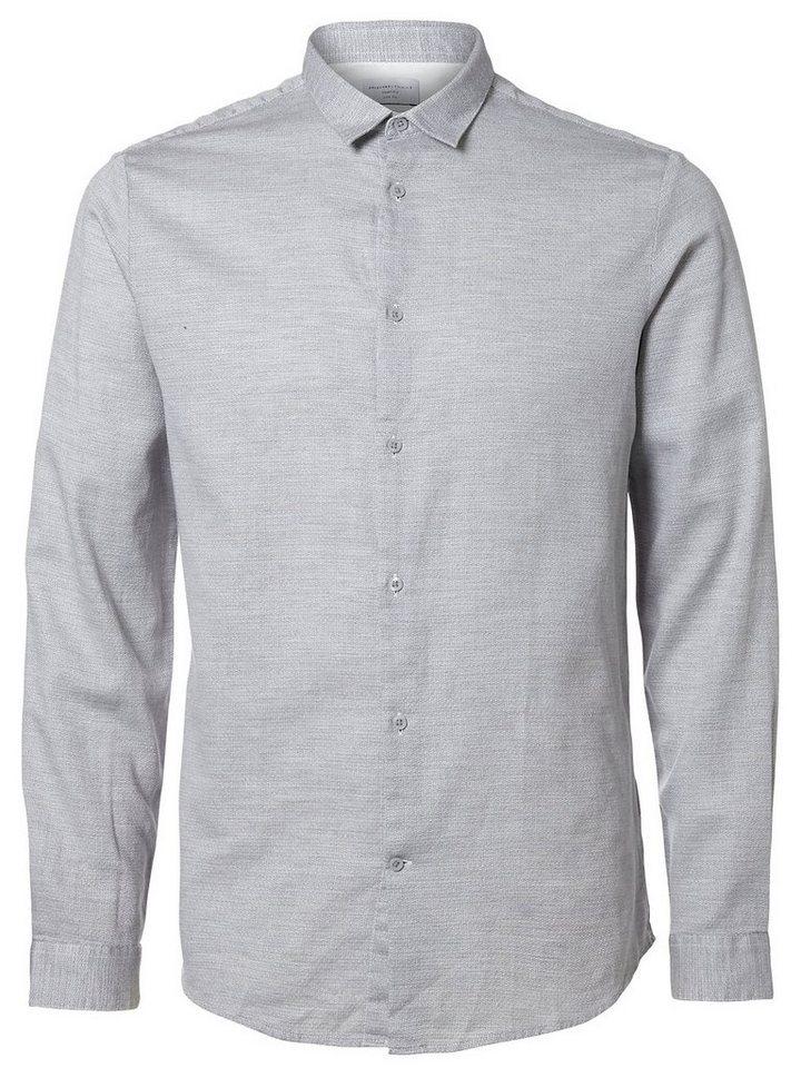 Selected Slim Fit- Hemd in Glacier Gray