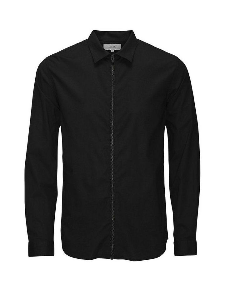 Jack & Jones Reißverschluss- Langarmhemd in Black