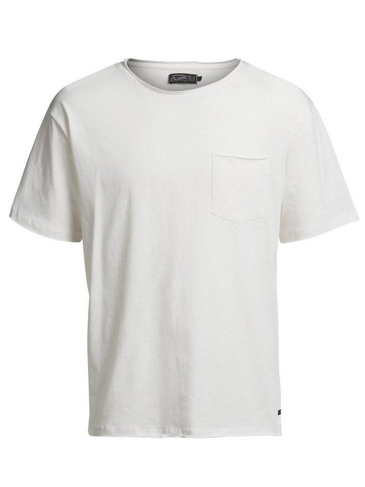 Jack & Jones Box-Fit- T-Shirt in Cloud Dancer