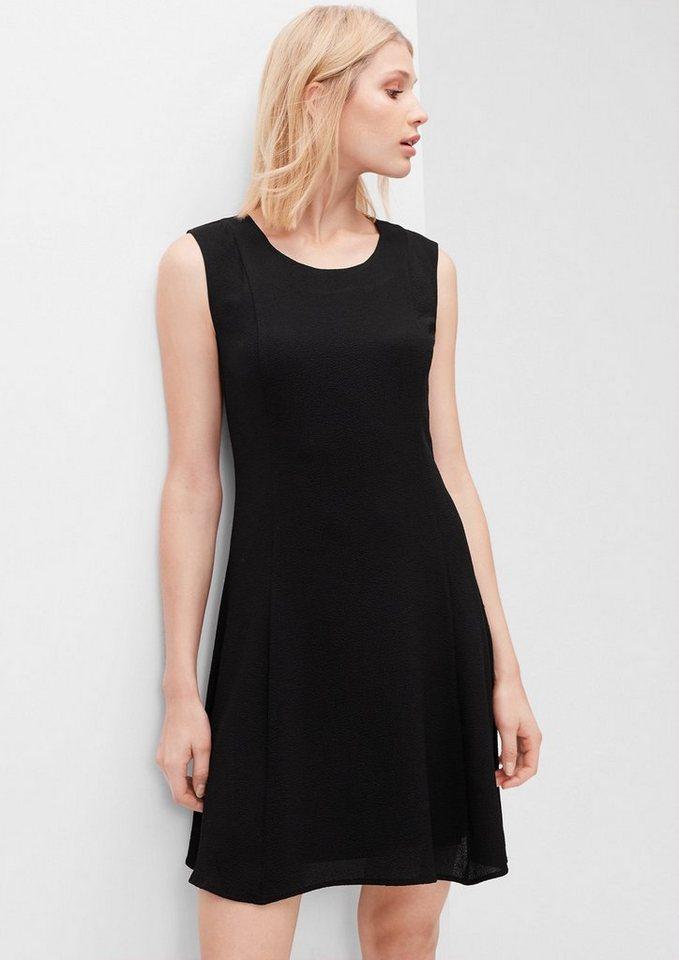 s.Oliver RED LABEL Ärmelloses Crêpe-Kleid in black