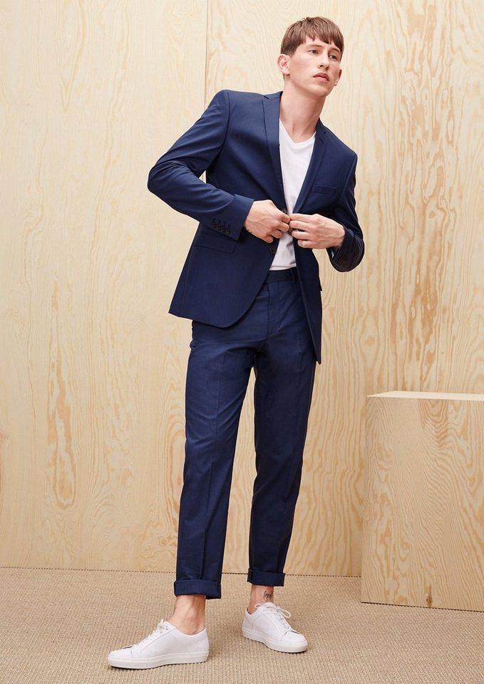 s.Oliver PREMIUM Slim: Nadelstreifen-Businesshose in blue stripes