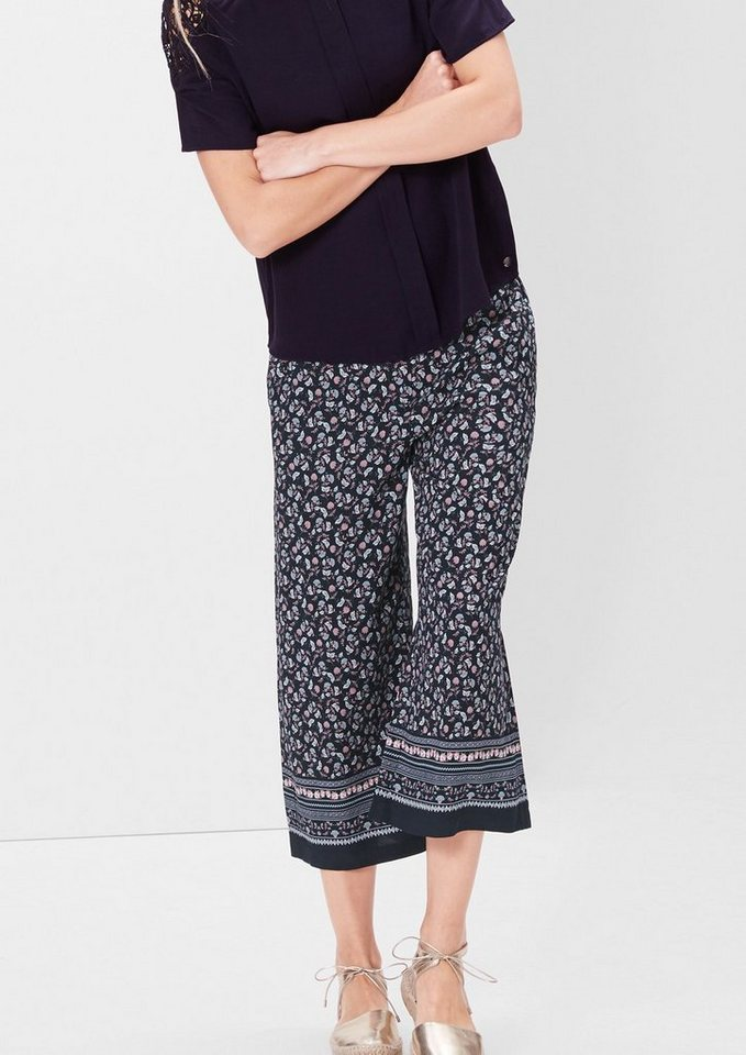 s.Oliver RED LABEL Culotte mit floralem Allover-Print in navy floral print