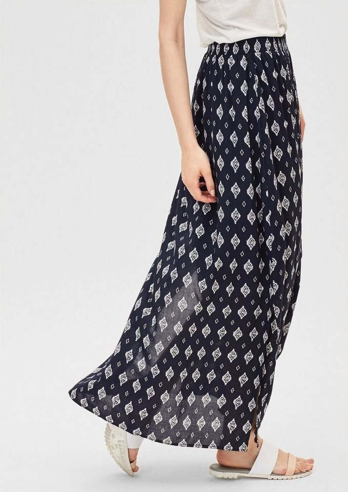 s.Oliver RED LABEL Maxirock im Boho-Style in navy AOP