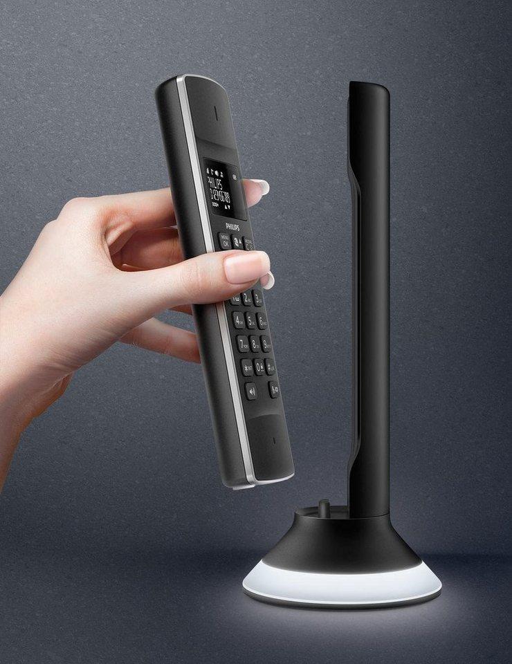 Philips Linea Lux M3451B Schnurloses Design Telefon mit AB in schwarz