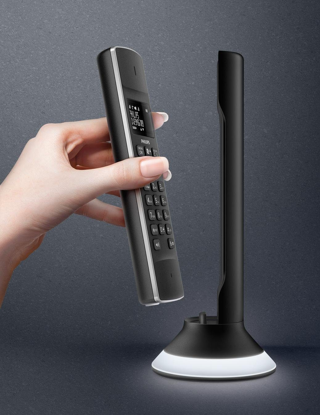 Philips Linea Lux M3451B Schnurloses Design Telefon mit AB