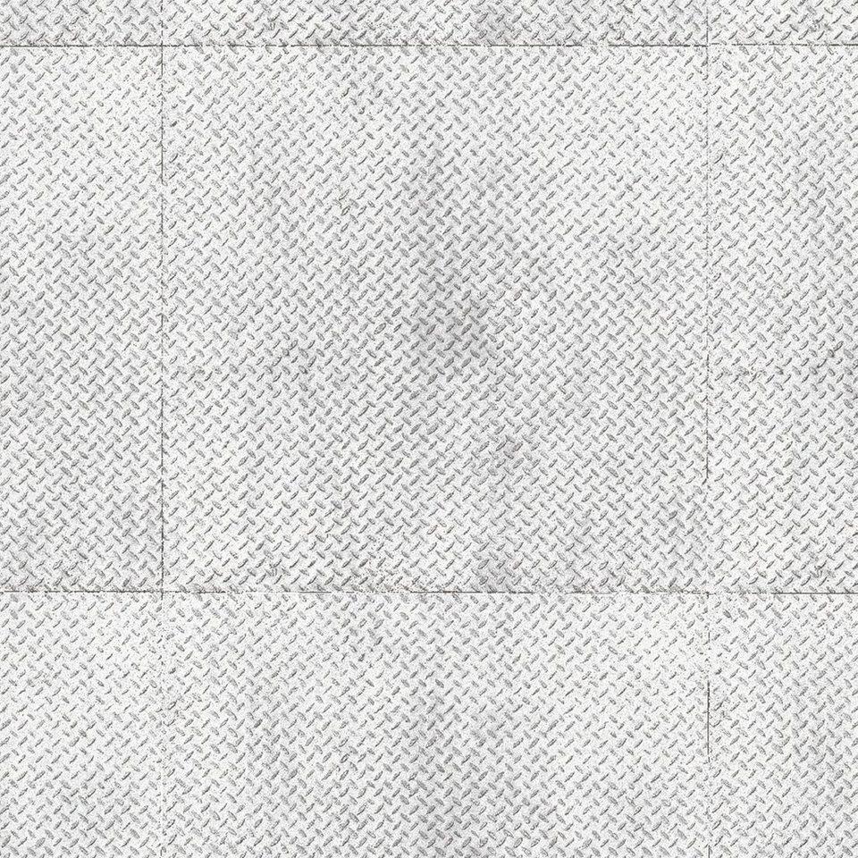 andiamo vinyl boden york riffelblech silber meterware in 200 cm breite online kaufen otto. Black Bedroom Furniture Sets. Home Design Ideas