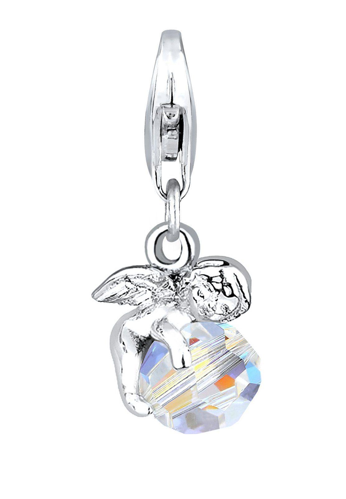 Elli Charm »Engel Himmel Swarovski® Kristalle 925 Silber«