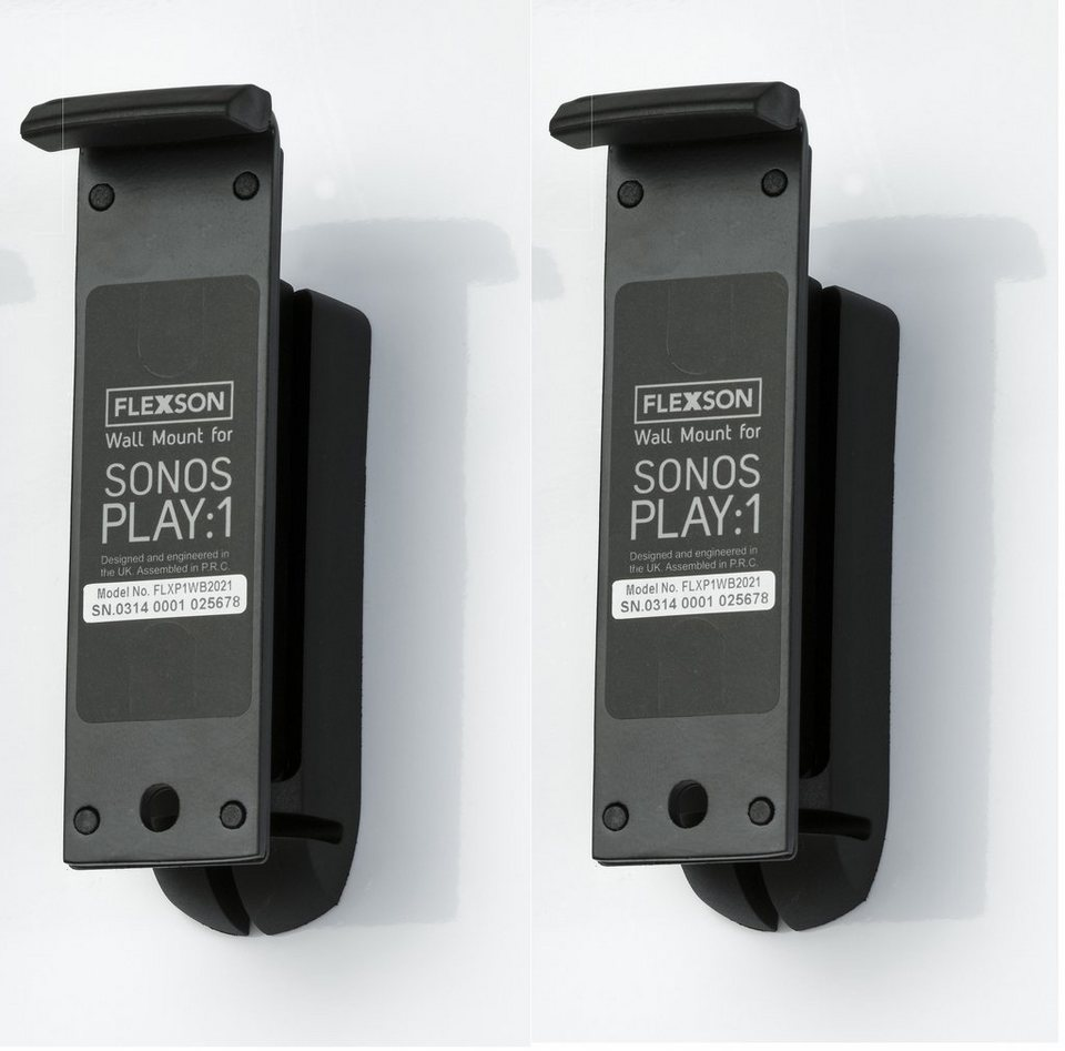 Flexson (Paar) Befestigung »Wandhalter für Sonos Play:1« in schwarz