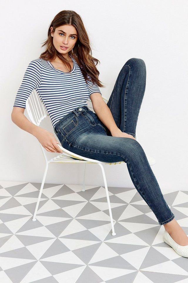 Next Super-Skinny 360-Jeans in Mittelblau