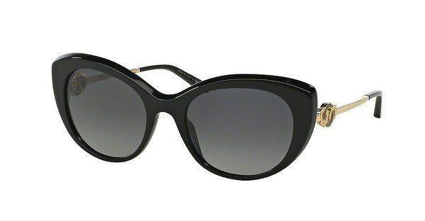 Bvlgari Damen Sonnenbrille » BV8141K« in 5190T3 - schwarz/grau