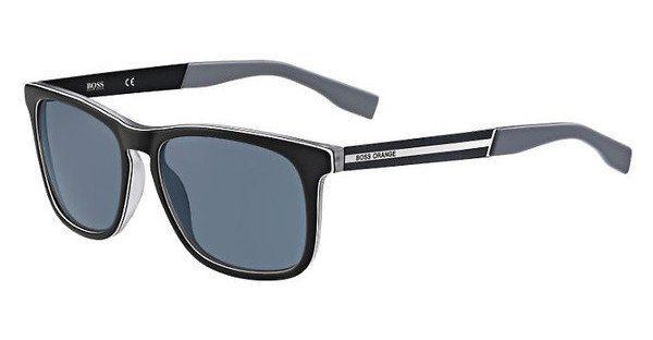 Boss Orange Herren Sonnenbrille » BO 0245/S«, schwarz, QDK/NL - schwarz/grau