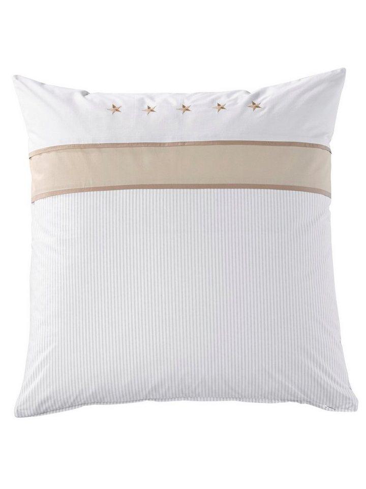 Bettwäsche in weiß/beige