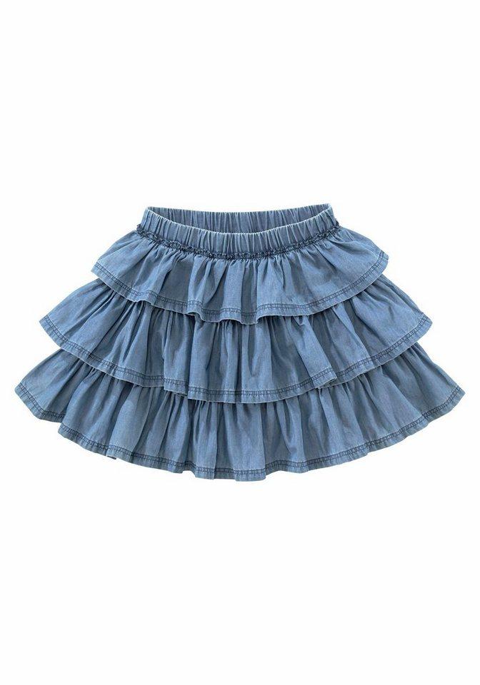 Arizona Volantrock, für Mädchen in blue denim
